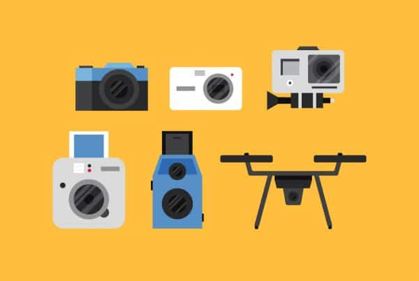 diverse camera's flat